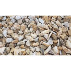 Piatră granulată galben alb