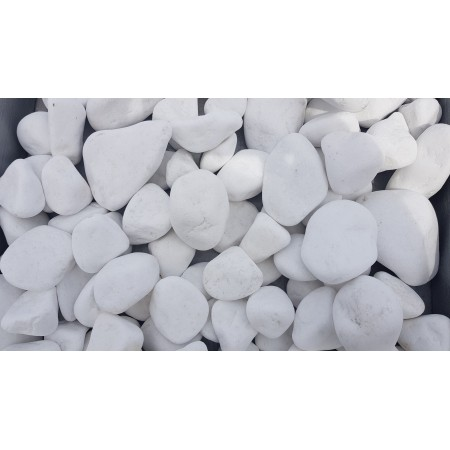 Piatră rotunjită albă