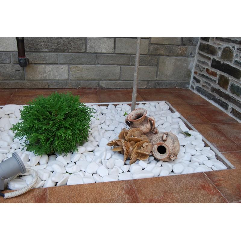 Piatră rotunjită alb imaculat, 20 kg
