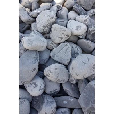 Piatră rotunjită neagră