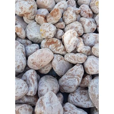 Piatră rotunjită roșu cărămiziu