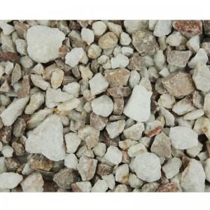 Piatră decorativă granulată alb-maroniu