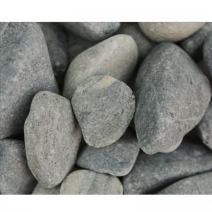 Piatră naturală rotunjită gri-color