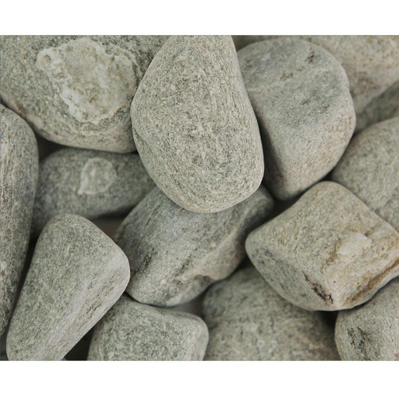 Piatră naturală rotunjită gri deschis, 20 kg