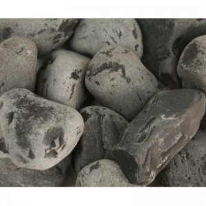 Piatră rotunjită neagră, 25 kg
