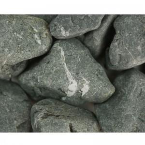 Piatră ornamentală rotunjită negru-verde