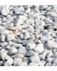 Piatră rotunjită White Sky, 25 kg