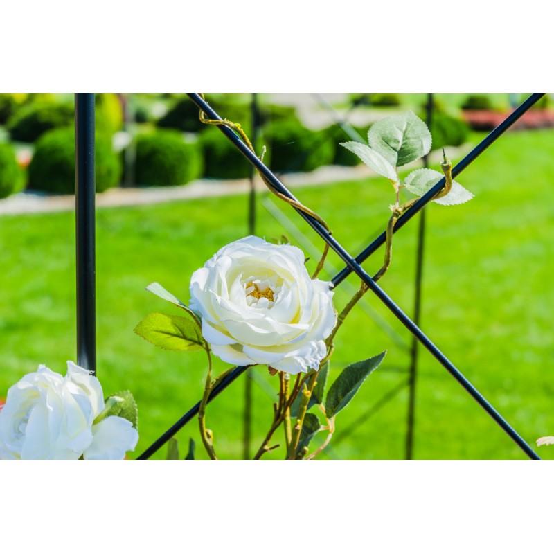 Arcadă metalică rotundă, pergolă pentru flori cățărătoare