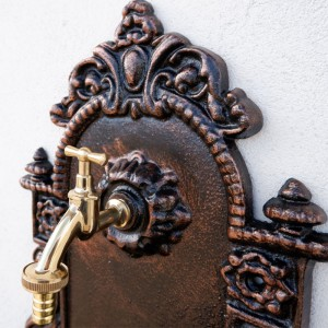 Cișmea de perete pentru grădină Antic, bronz-auriu