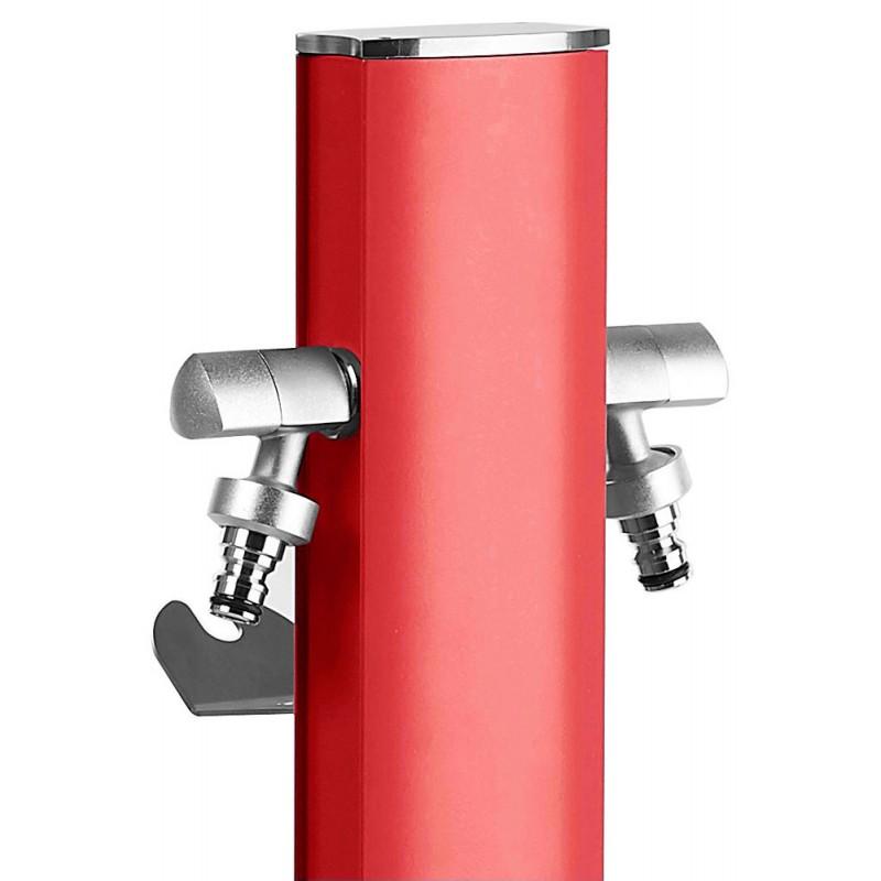 Fântână colorată din aluminiu - roșu coral