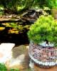 Jardinieră gabion rotundă M