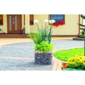 Jardinieră gabion pătrat