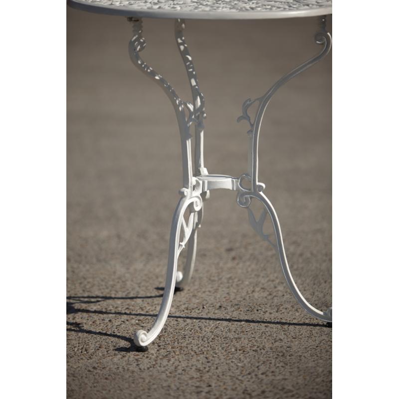Masă aluminiu Meda, alb