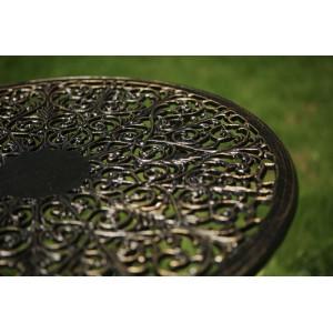 Masă aluminiu Meda, negru-auriu