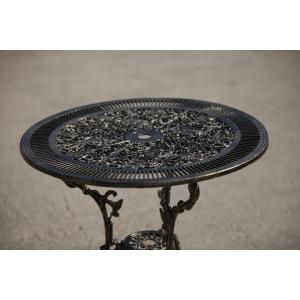 Masă aluminiu Klamen, negru-auriu
