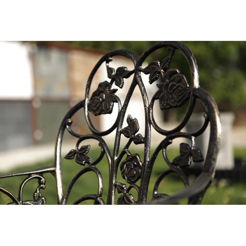 Scaun grădină Klamen, negru-auriu