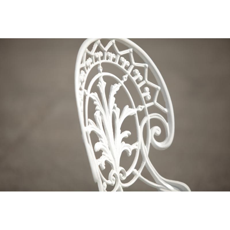 Scaun grădină Meda, alb