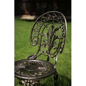 Scaun grădină Meda, negru-auriu