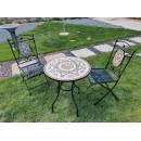 Set bistro grădină și terasă Mosaic, negru