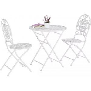 Set mobilier balcon masă și 2 scaune