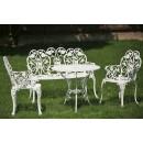 Set mobilier grădină și terasă din aluminiu Klamen, alb