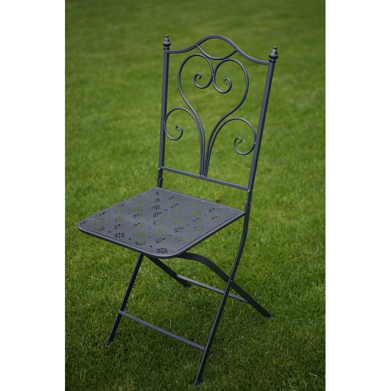 Set mobilier grădină masă și 2 scaune, negru