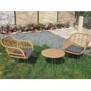 Set mobilier terasă și grădină, ratan sintetic, cadru oțel