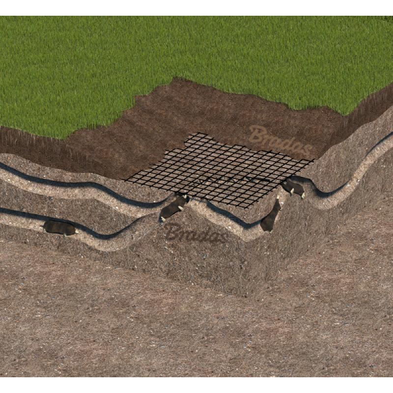 Plasă protecție gazon, anti cârtiță, 40g/m2, 14x16mm, 1x200m
