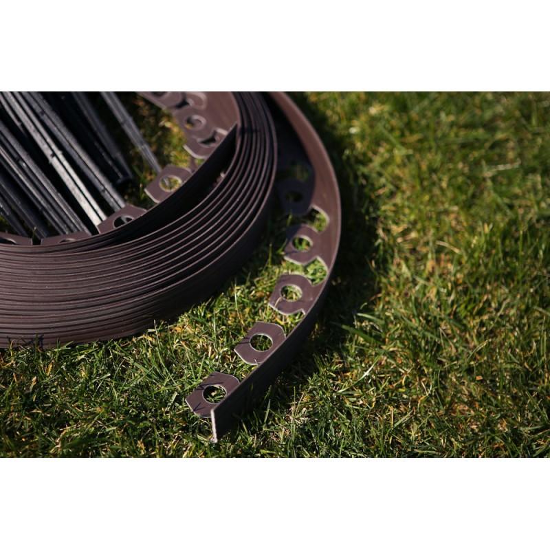 Separator gazon, bandă separatoare de gazon, 10m x 4 cm