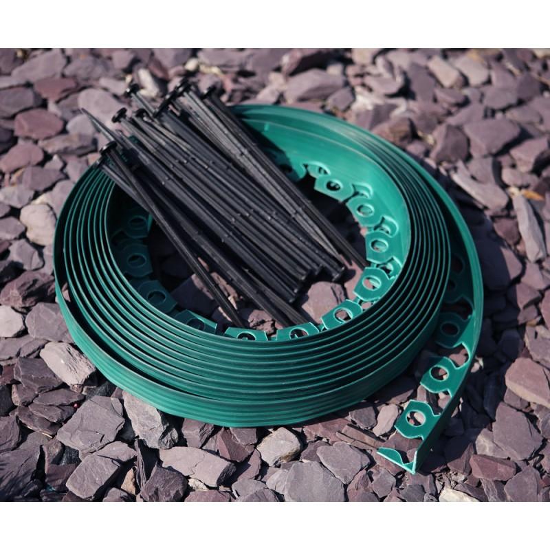 Separator gazon - bandă pentru delimitare gazon 10m x 3,8 cm
